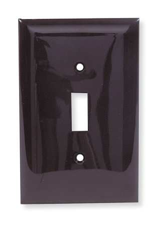 Toggle Switch Wall Plate, 1 Gang, Brown