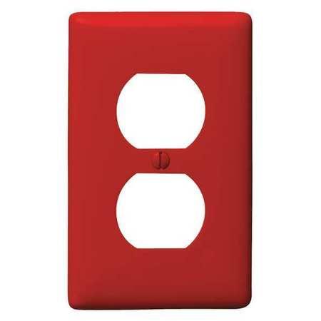 Duplex Wall Plate, 1 Gang, Red