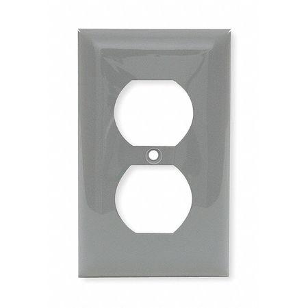 Duplex Wall Plate, 1 Gang, Gray
