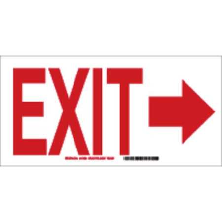 Exit Sign, 10 x 14In, R/WHT, AL, Exit, ENG