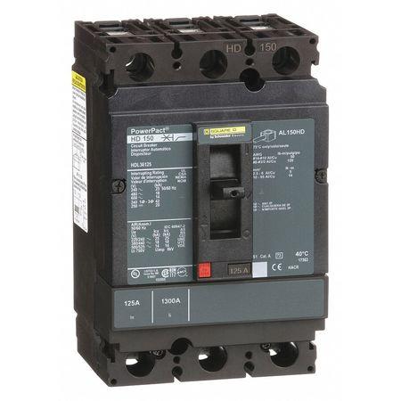 3P Standard Circuit Breaker 125A 600VAC