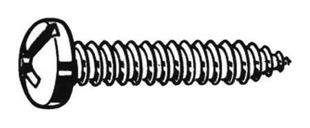 Sheet Metal Screw, Pan, #12, 1/2 in., PK100