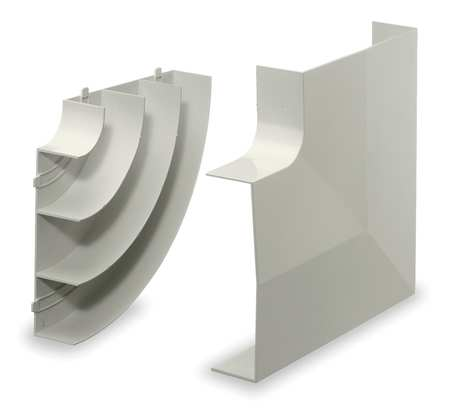 Flat Elbow Base and Cover, White