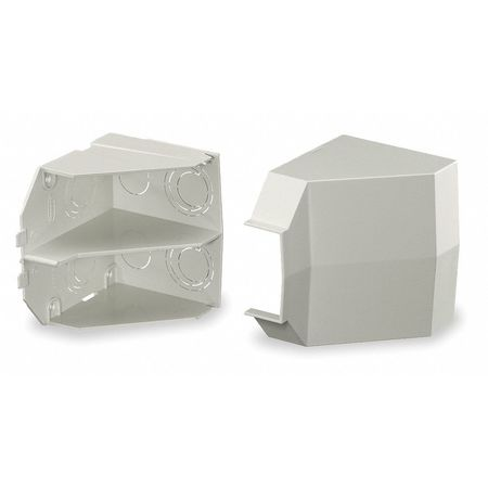 Ceiling Adapter, White, PVC, Wall-Trak