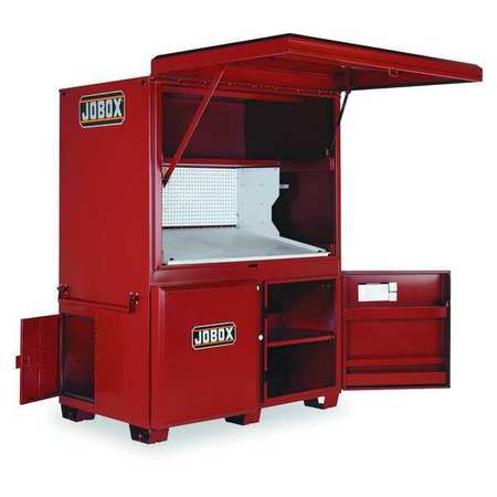 "jobox jobsite storage cabinet/tool box, 80""h, 63-1/2""w, 42-1/2""d ..."