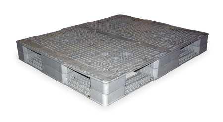 Plastic Pallet, Rackable, 48 L X 40 W, Gray