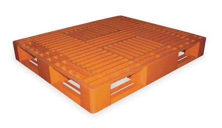 Plastic Pallet, 48 L X 40 In W, Orange
