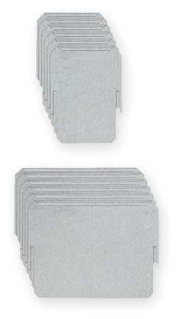 Dividr, 6-3/4 in. Lx8-1/4 in. W, Stl, White