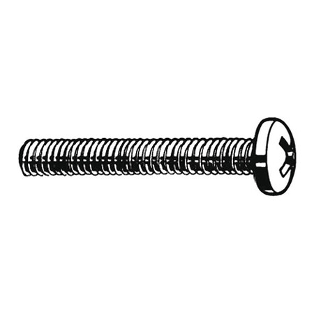 "#10-24 x 7/16"" Round Head Phillips Machine Screw,  100 pk."