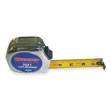 Tape Measure, 1Inx25 ft., Carbon Steel