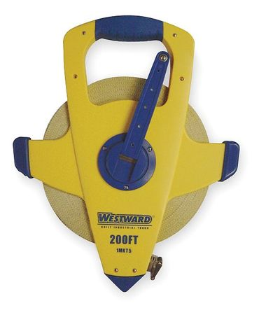 Long Tape Measure, 1/2Inx200ft, Fiberglass