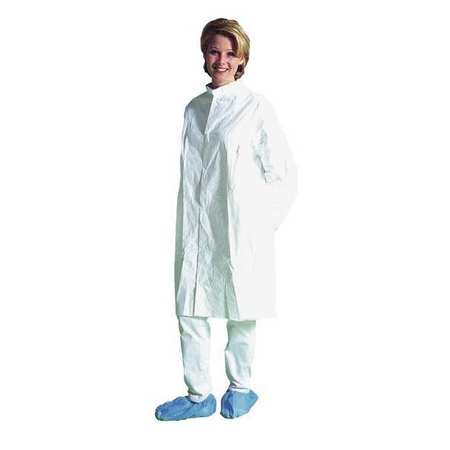 Tyvek Isoclean Cleanroom Lab Coat, XL, , Wht, PK30