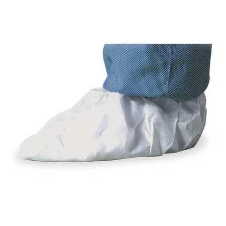 Shoe Covers, Slip Resist, L, Wh, PK100