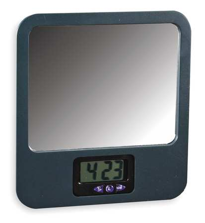 "7"" Mirror w/Digital Clock"