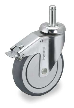 Swivel Stem Cstr w/Totl Lock, 6 in, 260 lb