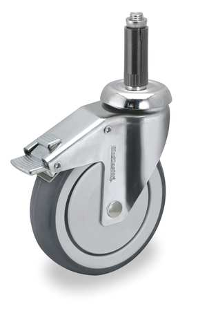 Swivel Stem Cstr w/Totl Lock, 5 in, 260 lb