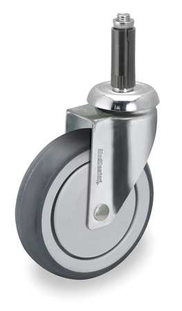 Swivel Stem Caster, TPR, 6 in., 260 lb.