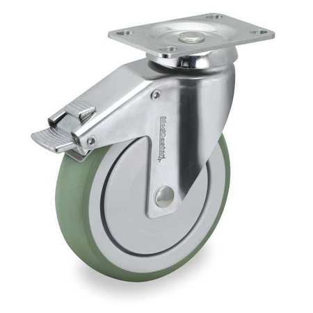 Swivel Plate Caster w/2-Position Directional Lock, 220 lb