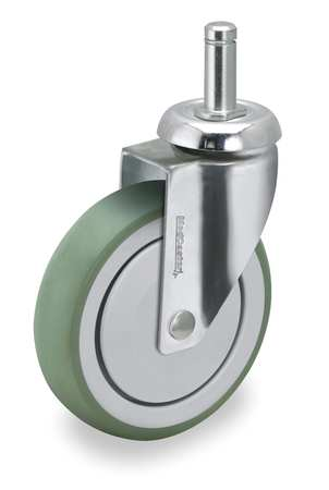 Swivel Stem Caster, TPR, 4 in., 190 lb.