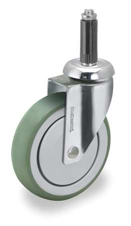 Swivel Stem Caster, TPR, 6 in., 240 lb.