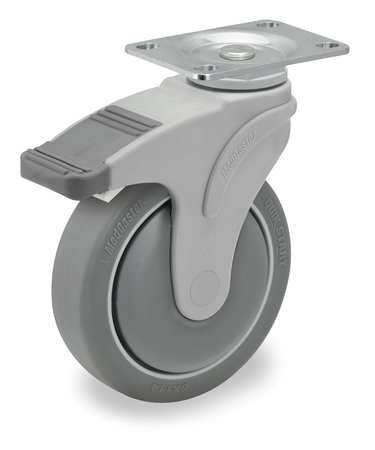Swivel Plate Caster w/2-Position Directional Lock, 325 lb