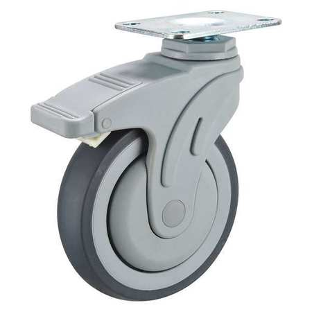 Swivel Plate Caster w/2-Position Directional Lock, 325 lb