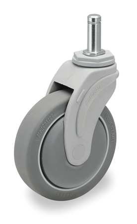 Swivel Stem Caster, TPR, 4 in., 275 lb.