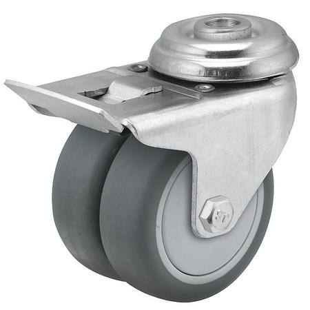 Dual Wheel Bolt Hole Swivel Cstr w/Brake