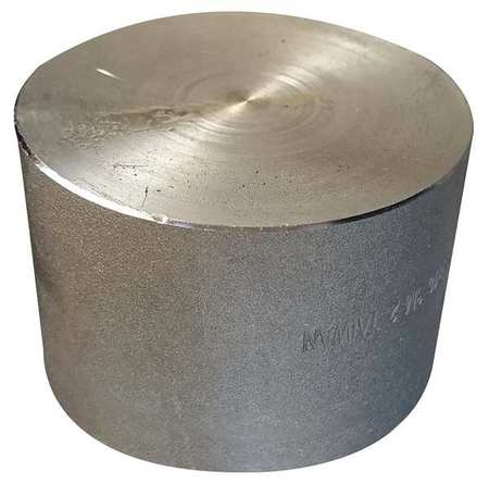 "2-1/2"" NPT Black Forged Steel Cap"