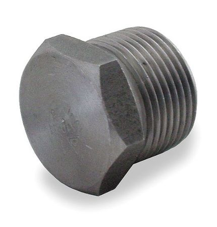 "1-1/4"" MNPT Black Forged Steel Hex Head Plug"