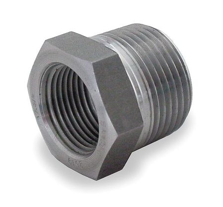 "3/8"" x 1/4"" NPT Black Forged Steel Bushing"