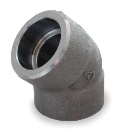 Elbow,  45 Deg, 1/2 In., Socket Weld