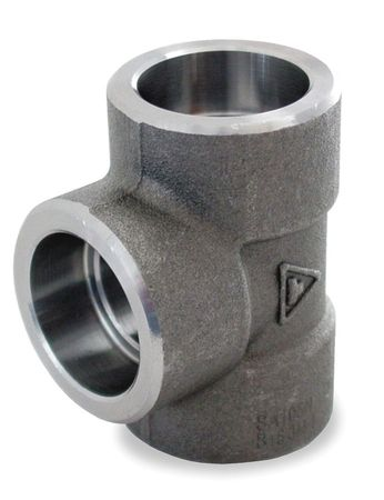 "1-1/4"" Socket Weld Black Forged Steel Tee"