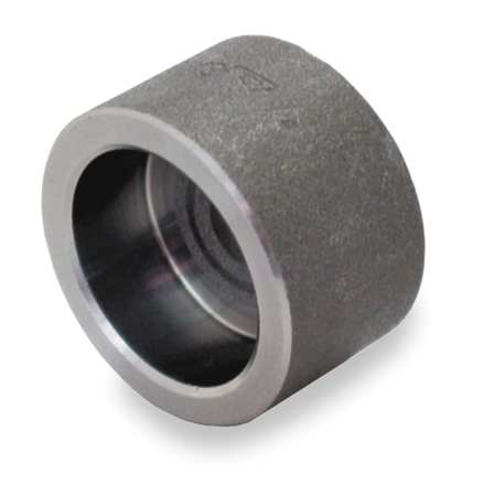 "3/4"" Socket Weld Black Forged Steel Cap"