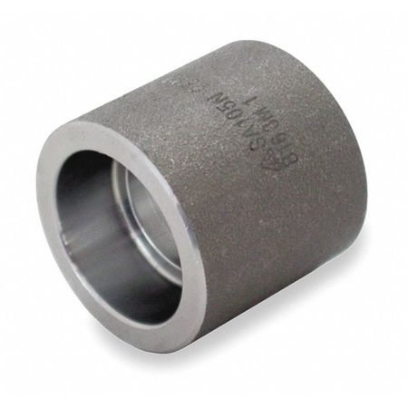"1-1/4"" Socket Weld Black Forged Steel Coupling"