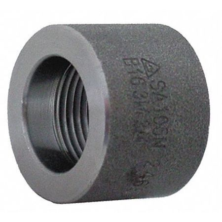 "1/4"" FNPT Black Forged Steel Half Coupling"