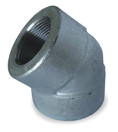 "1/4"" FNPT Galvanized 45 Degree Elbow"