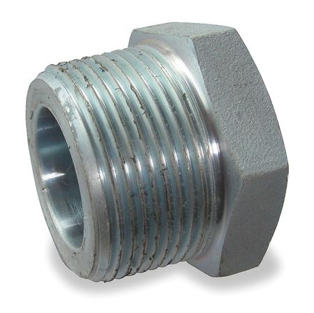 "2"" MNPT x 1-1/2"" FNPT Galvanized Hex Bushing"