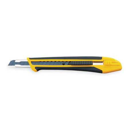 Utility Knife, 5 3/4 In, Yellow/Black