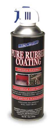 Rubber Coating, Black, 10 Sq Ft Coverage