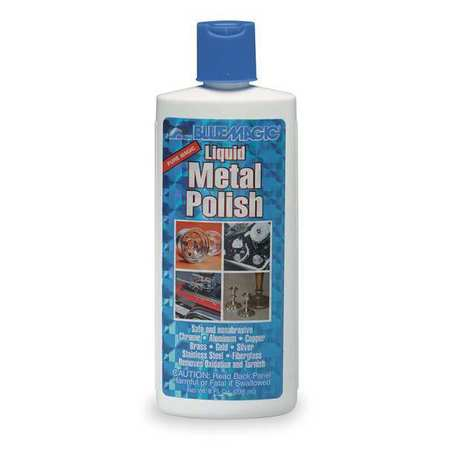 Liquid Metal Polish, Size 8 oz., Bottle