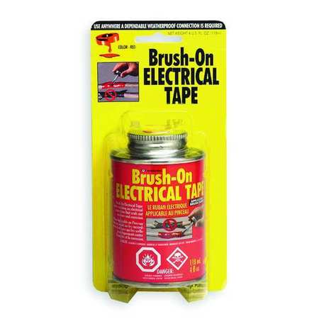 Brush On Electrical Tape, Red, 4 Oz