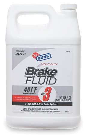 Brake Fluid, 1Gal, Yellow, Transparent