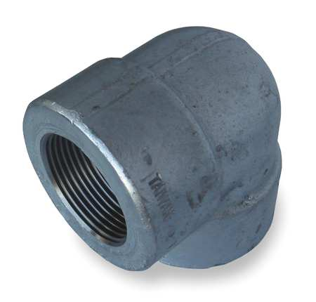 "1-1/4"" FNPT Galvanized 90 Degree Elbow"