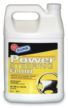 Power Steering Fluid, 1Gal, Amber, Clear