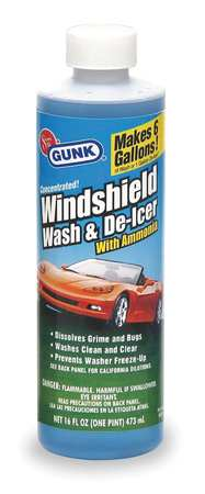 Windshield Washer Solvent, 16 Oz, Blue