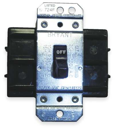 Manual Motor Switch, 60A, 600VAC, 2P