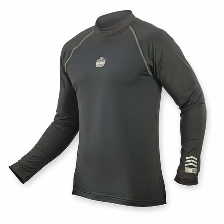 Long Sleeve Thermal Shirt, 3XL, Black
