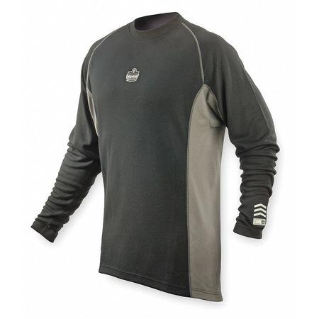 Long Sleeve T-Shirt, Black/Gray, 3XL