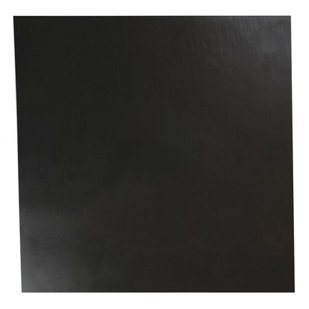 "1/2"" Comm. Grade Buna-N Rubber Sheet,  12""x12"",  Black,  70A"
